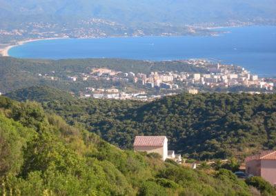 Vue panoramique sur Ajaccio
