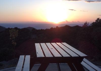 le soleil qui se couche a Alata