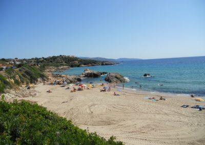 La Plage de sagone située a coté du gite Sassone, en Corse