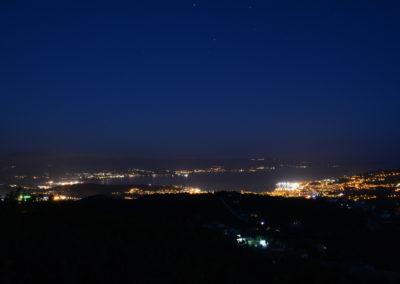 Vue de nuit sur Ajaccio