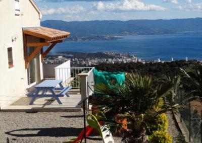 Terrasse et jardin villa 5 pers