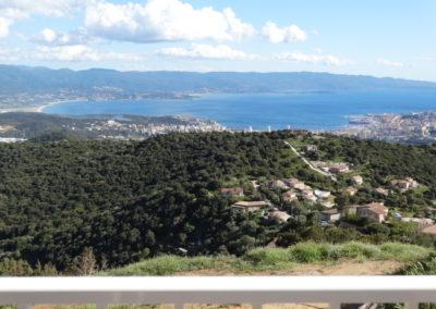 Vue sur Ajaccio