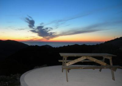 Vue golfe de Lava le soir