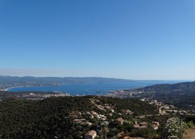 vue panoramique sur Ajaccio D'Alata